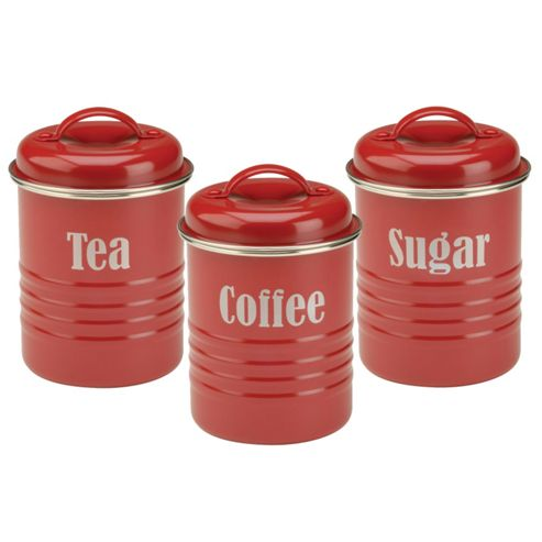 Typhoon Red Tea, Coffee & Sugar Set