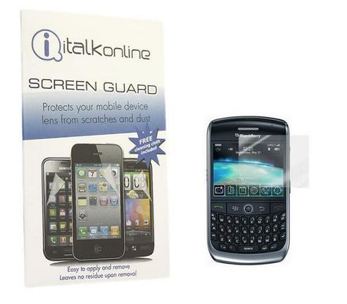 iTALKonline Screen LCD Scratch Protector and MicroFiber Cloth - For BlackBerry 8900 Curve
