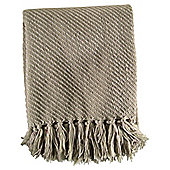 TEXTURED CHENILLE THROW CREAM