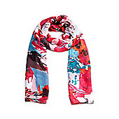 Pink Abstract Floral Print Scarf