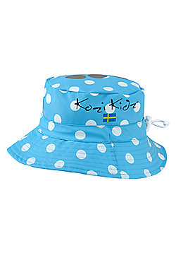 Kozi Kidz Regnhatt Rain Hat Sea Dots Large