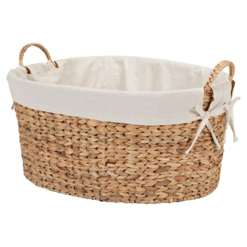 Tesco Water Hyacinth Lined Laundry Basket