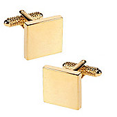 Gold Plated Square Engraved Cufflinks