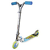 Ozbozz Lightning Bolt 2-Wheel In-line Scooter, Blue