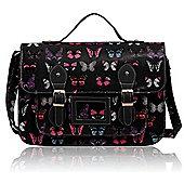 KCMODE Womens Black butterfly Design Satchel