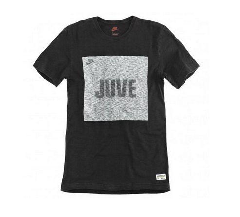 2013-14 Juventus Nike Covert Block Tee (Black)