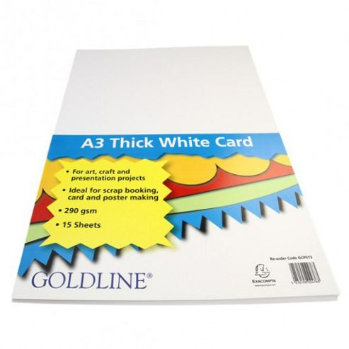 White Card A3 290gsm - 15 Pk