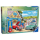 Ravensburger Happy Days at Work The Mechanic Puzzle 500-Piece Jigsaw Puzzle