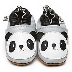 Olea London Soft Leather Baby Shoes Panda 12-18 months