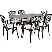 Bentley Garden Stamford Cast Aluminium 7 Piece Furniture Set