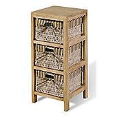 Hansen Rattan Shelf Unit - Light Wood