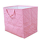 Dotty Toy Storage Basket - Pink