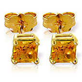 QP Jewellers 0.70ct Citrine Alexandra Stud Earrings in 14K Gold