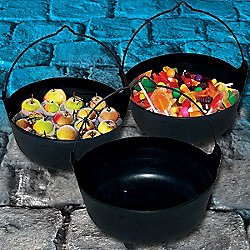 Smiffy's - Large Black Cauldron - 45cm Halloween Props