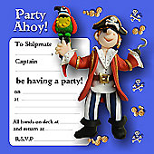 Holy Mackerel Pirate Party Invitations, Pack of 8