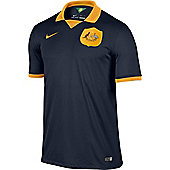 2014-15 Australia Away World Cup Football Shirt - Navy