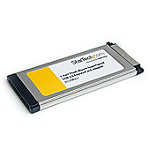 StarTech 1 Port Flush Mount ExpressCard SuperSpeed USB 3.0 Card Adapter