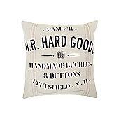 Linea Handmade Buttons Advertisement Cushion