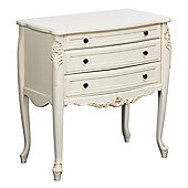 Premier Housewares Chateau Chantilly 3 Drawer Chest