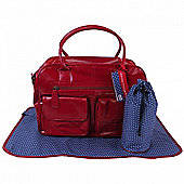 Koto Leatherette Changing Bag (Red)
