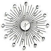 Premier Housewares Glamour Wall Clock - Clear