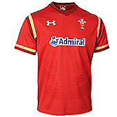 Under Armour Wales Rugby WRU Supporters Jersey 15/16 - Red - Red