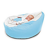 Kathy Cunliffe Cuddlesoft Pre-Filled Baby Bean Bag Seat with Adjustable Safety Harness - Sky Blue