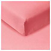 Tesco Fitted Sheet Kingsize Flamingo
