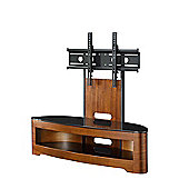Jual Curve Cantilever TV Stand - Walnut