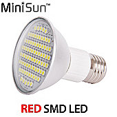 MiniSun ES E27 7.5W R63 SMD LED Spotlight Bulb in Red