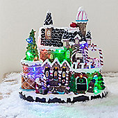 Musical Gingerbread Palace LED Light Up Christmas Scene