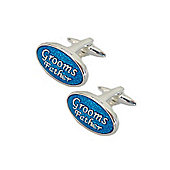 Blue Enamel Grooms Father Wedding Cufflinks