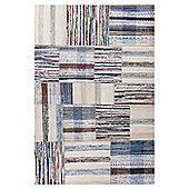 InRUGS Patch White Woven Rug - 200cm x 140cm (6 ft 6.5 in x 4 ft 7 in)