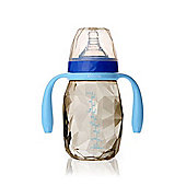 Kidsme Diamond Milk Bottle with Handles (240 ml) AQUAMARINE