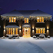 Premier Snowing LED Icicle Lights 960 Warm White