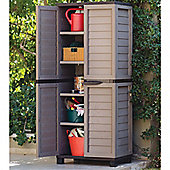 Mocha Tall Outdoor Storage Cabinet