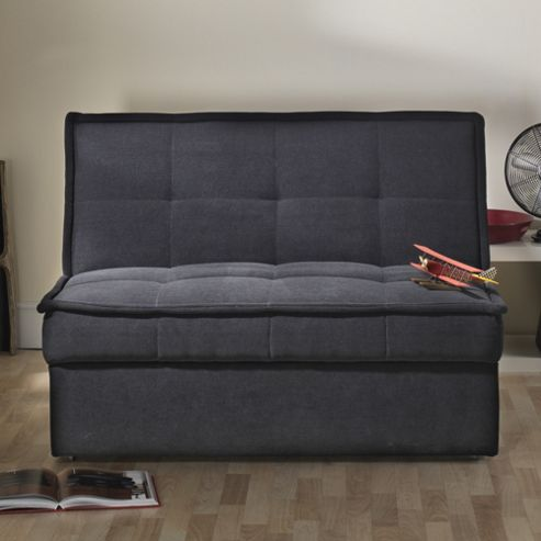 Limelight Solar 2 Seater Convertible Sofa Bed - Black