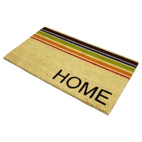 Home Horizontal Stripe PVC Coir Mat