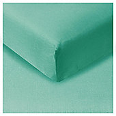 Tesco Fitted Sheet Kingsize Aquamarine