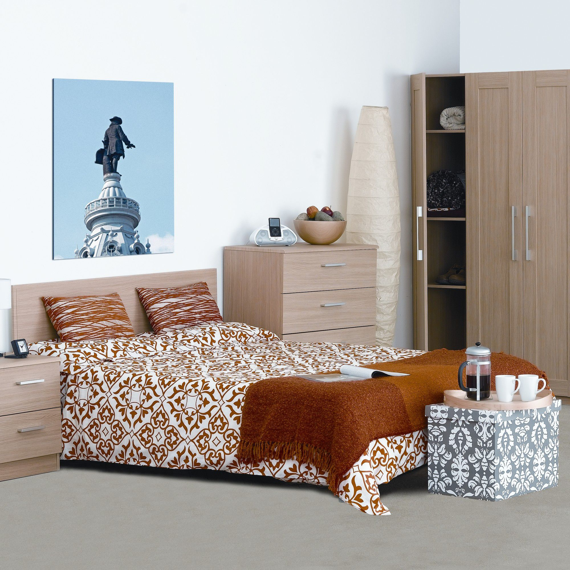 Alto Furniture Visualise Shaker Bed Frame - King at Tescos Direct