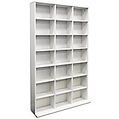 Pigeon Hole - 588 Cd / 378 Dvd Blu-ray Media Storage Unit - White