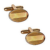 Barley Oval Gold Plated Cufflinks