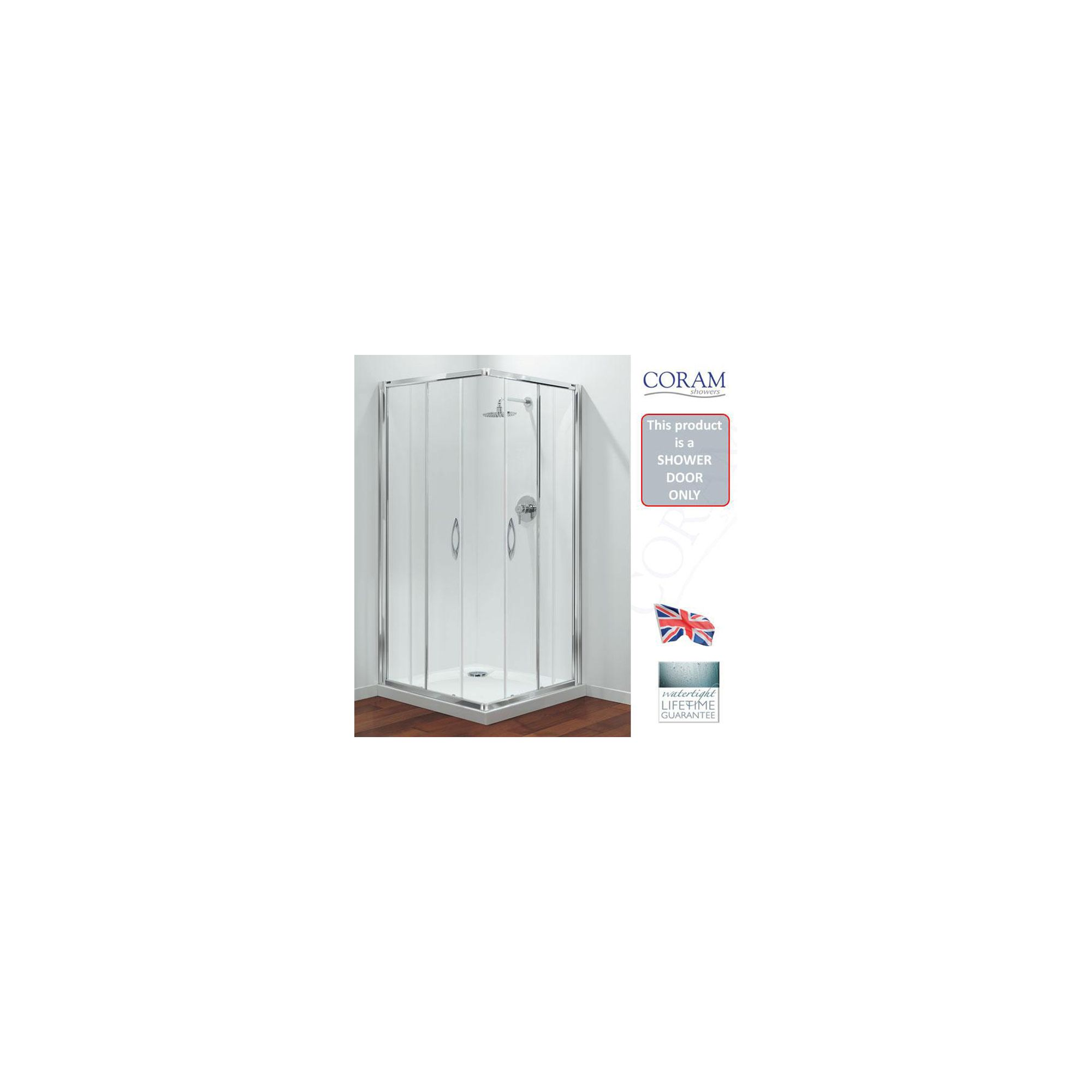 Coram Premier Corner Entry Frame and Door Pack Only 760/800mm at Tesco Direct