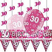 30th Pink Decorating Kit
