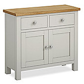 Cotswold Painted Small Sideboard - Matt Stone Grey