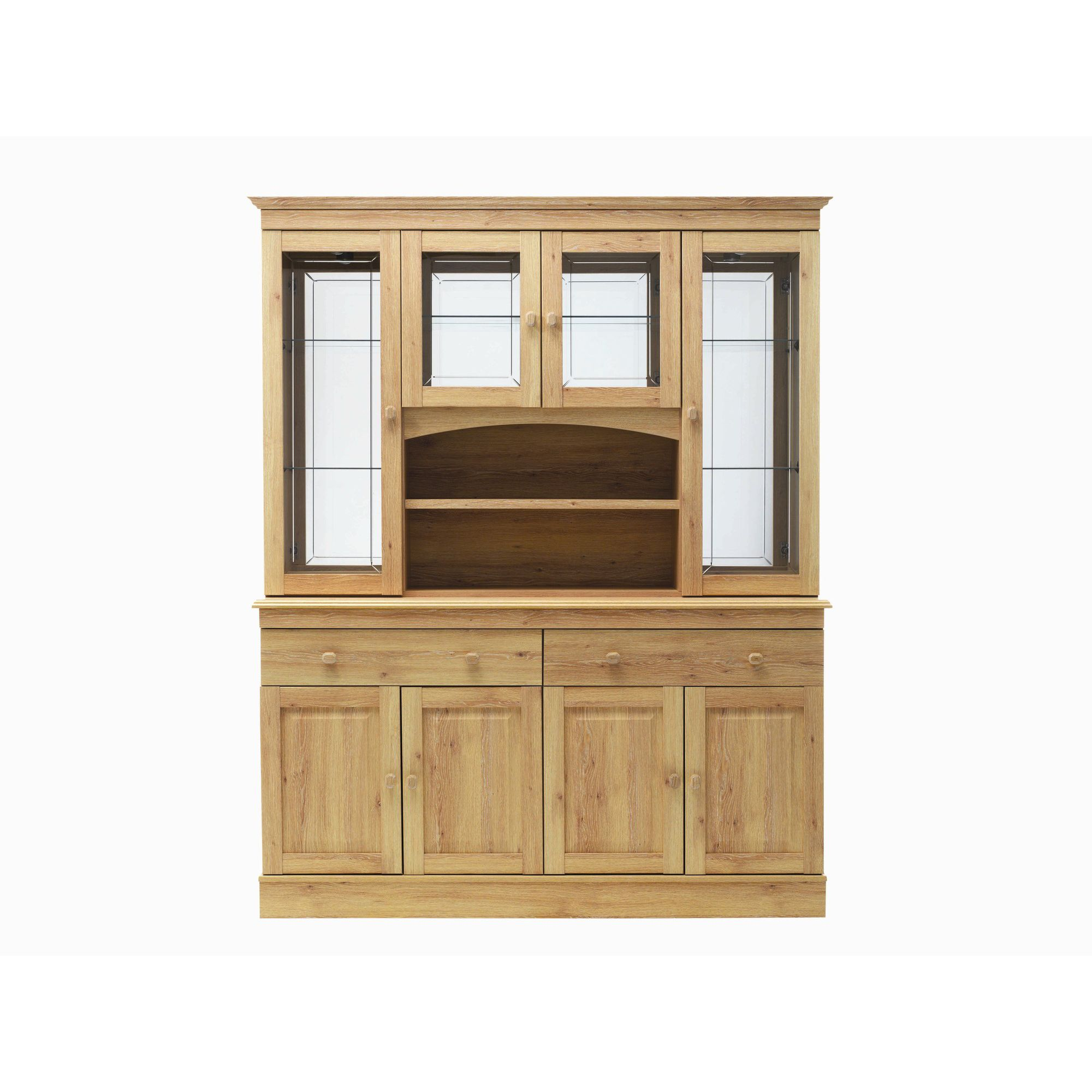 Caxton Driftwood 152 cm Display Cabinet in Limed Oak at Tesco Direct