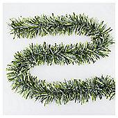 Festive Chunky Snowtip Tinsel, Green, 2m X 150mm