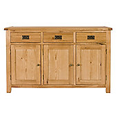 Elements Brunswick Dining Three Door Sideboard in Warm Lacquer