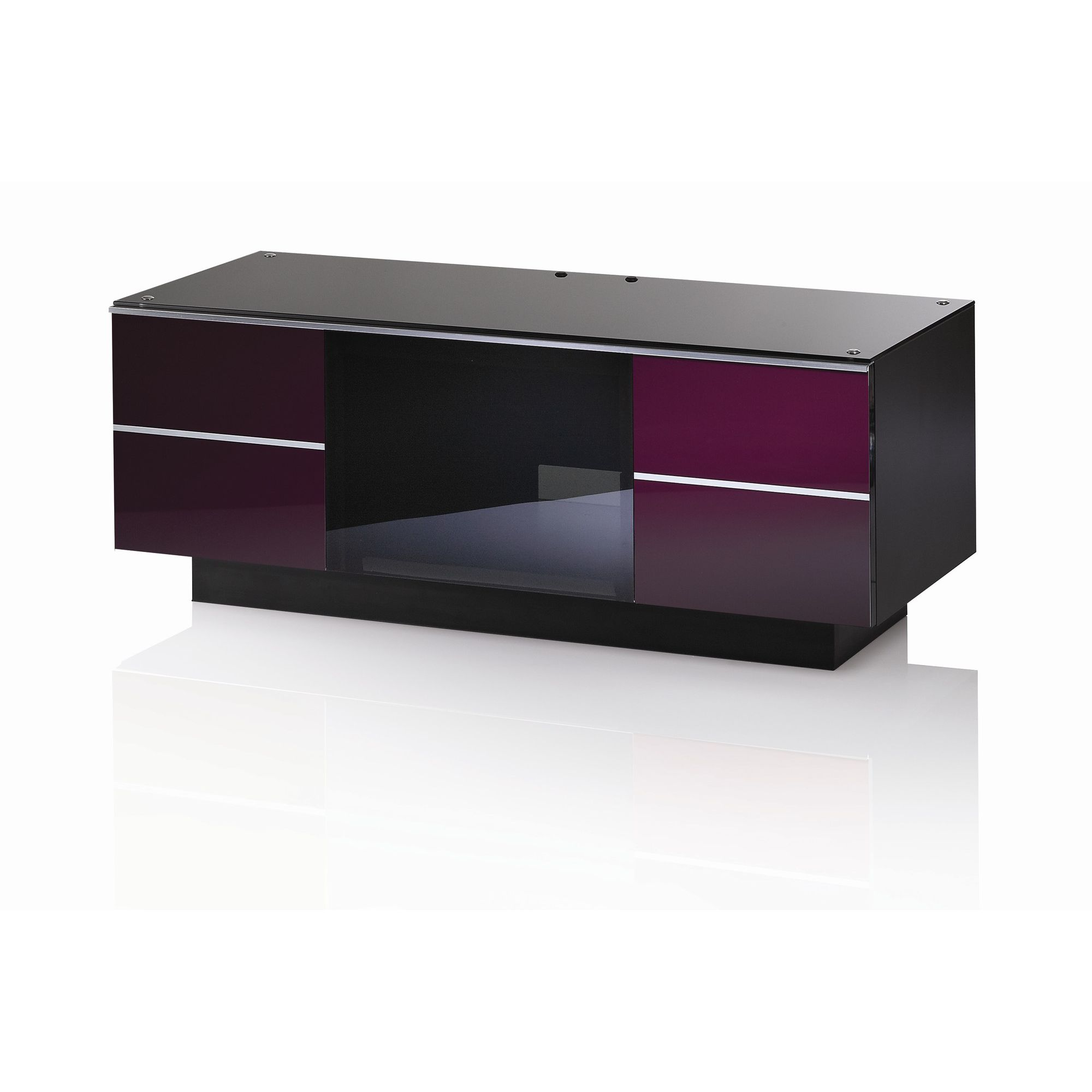 UK-CF G Series GG TV Stand - 110cm - Damson at Tesco Direct