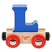Bigjigs Rail Rail Name Letter L (Dark Blue)